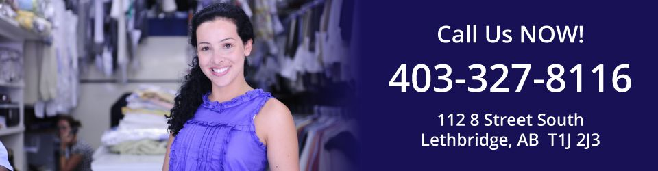 Call us NOW! - Woman Dry cleaning